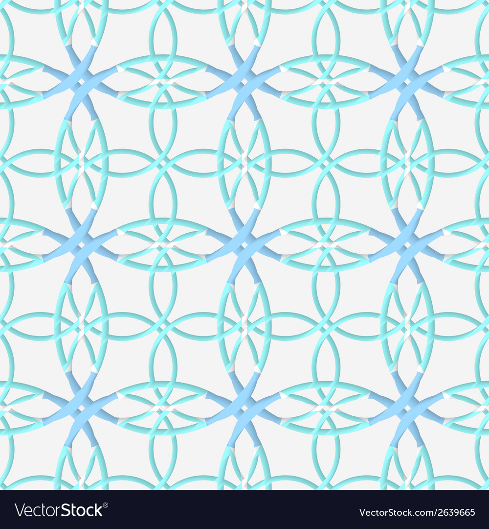 Geometrical pattern with lace ornament and blue vector | Price: 1 Credit (USD $1)