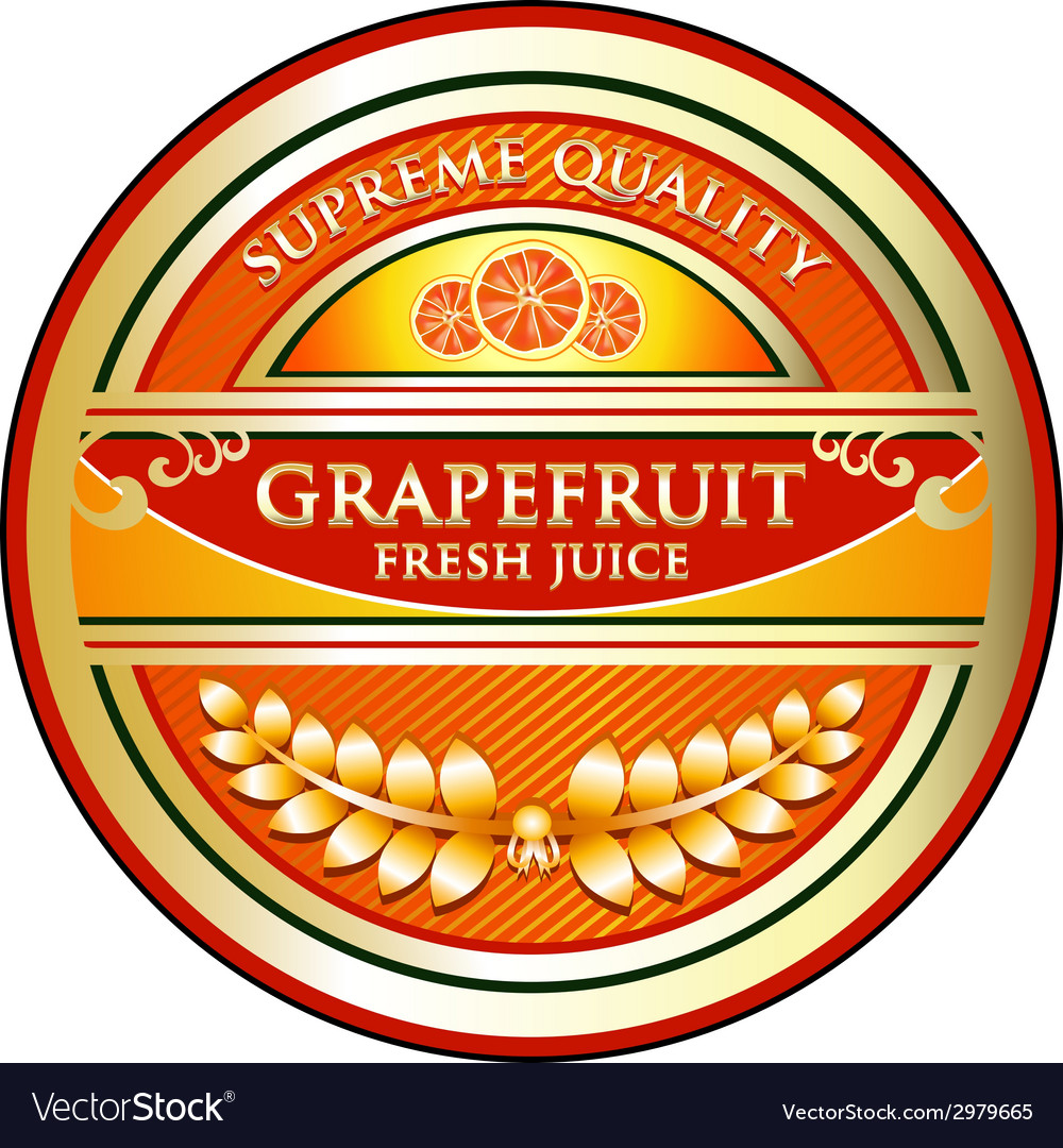 Grapefruit juice label vector | Price: 1 Credit (USD $1)