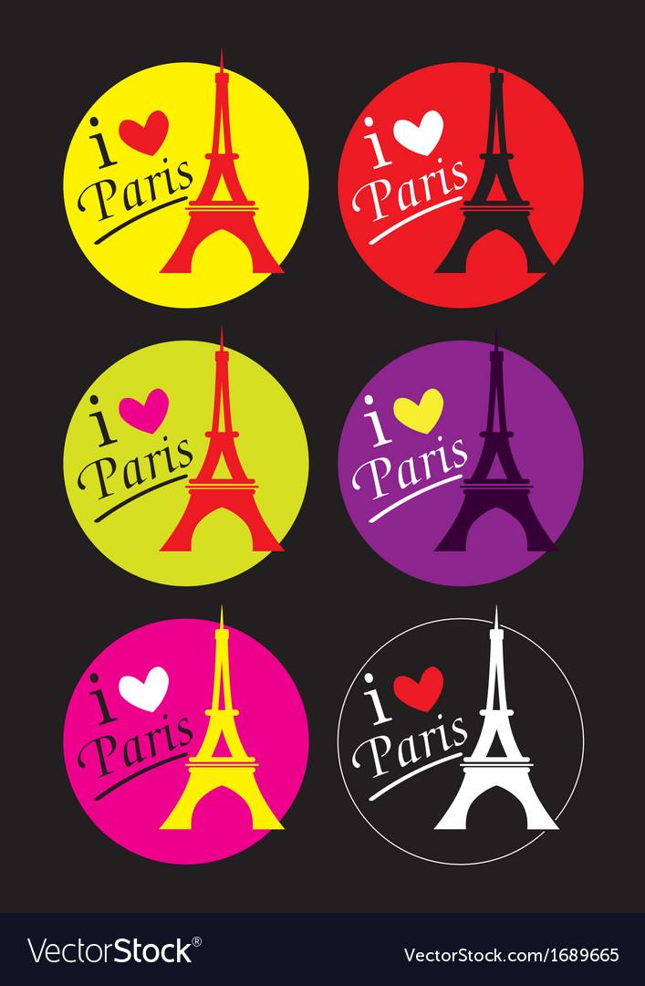 I love paris sticker vector   Price: 1 Credit (USD $1)