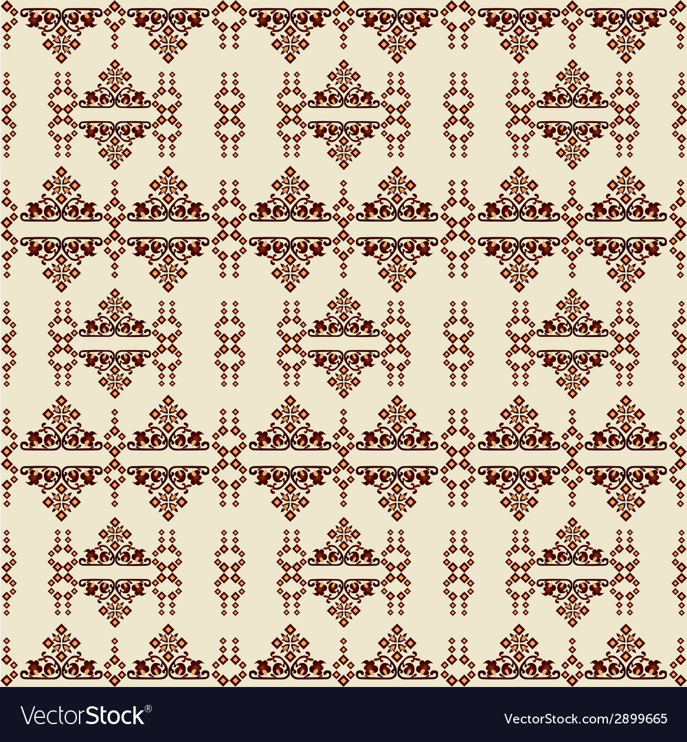 Oriental style seamless pattern one vector | Price: 1 Credit (USD $1)