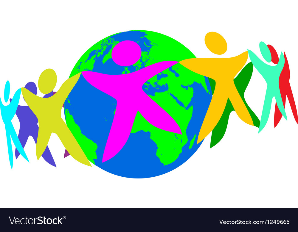 People of the world vector | Price: 1 Credit (USD $1)