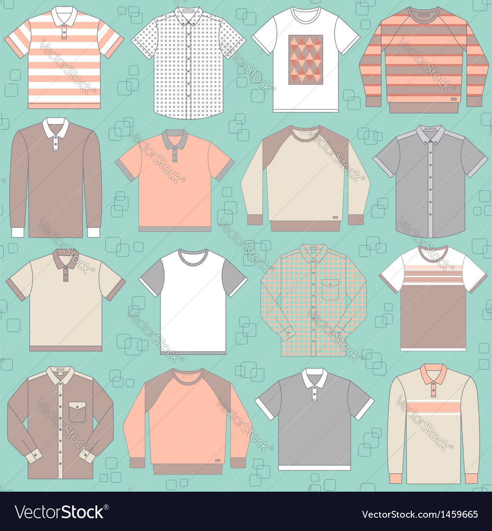 Seamless pattern with clothing for men vector | Price: 1 Credit (USD $1)