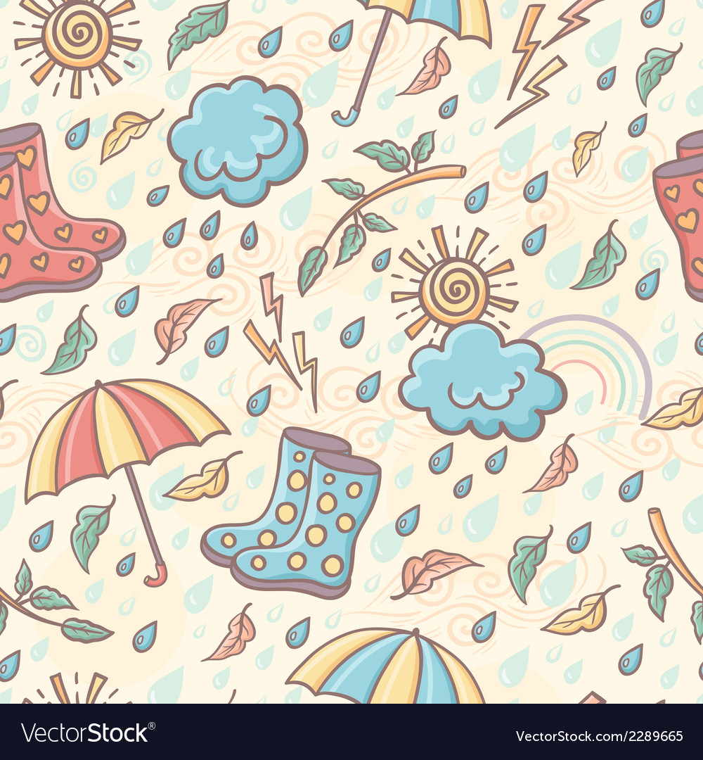 Seamless weather pattern vector | Price: 1 Credit (USD $1)