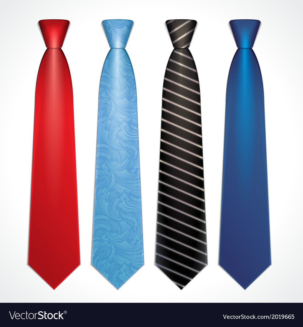 Set of colorful neckties vector   Price: 1 Credit (USD $1)