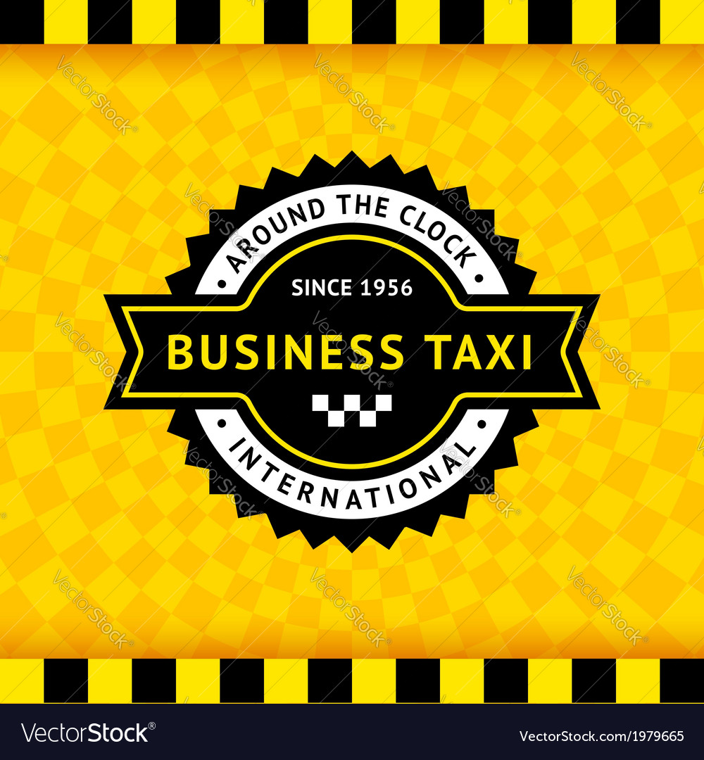 Taxi symbol with checkered background - 10 vector | Price: 1 Credit (USD $1)