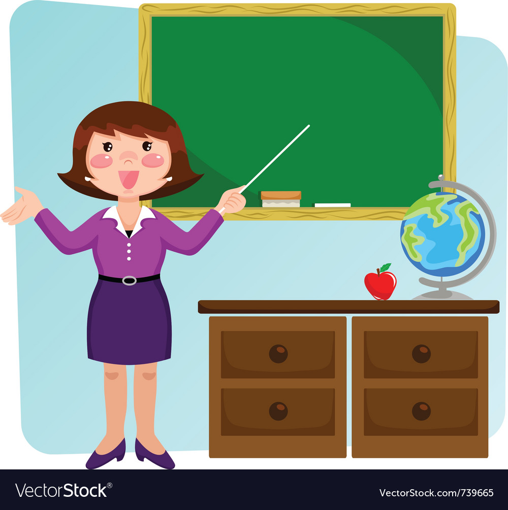 Teacher in the classroom vector | Price: 3 Credit (USD $3)