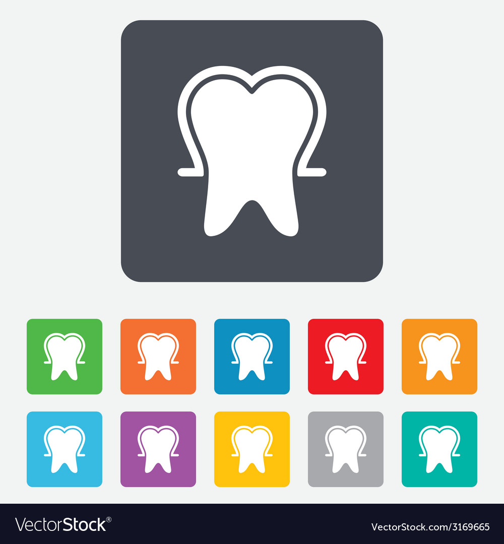 Tooth enamel protection sign icon dental care vector | Price: 1 Credit (USD $1)