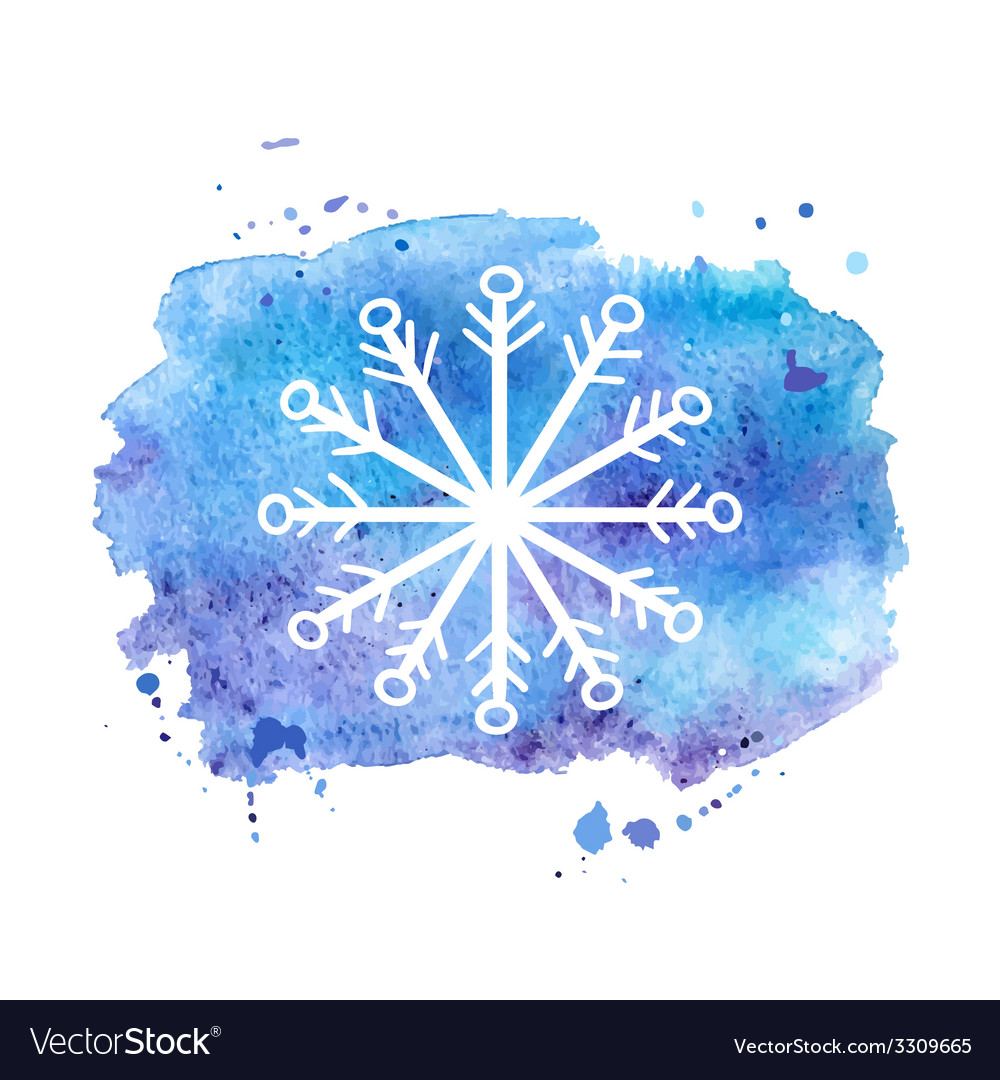 Watercolor background winter vector | Price: 1 Credit (USD $1)