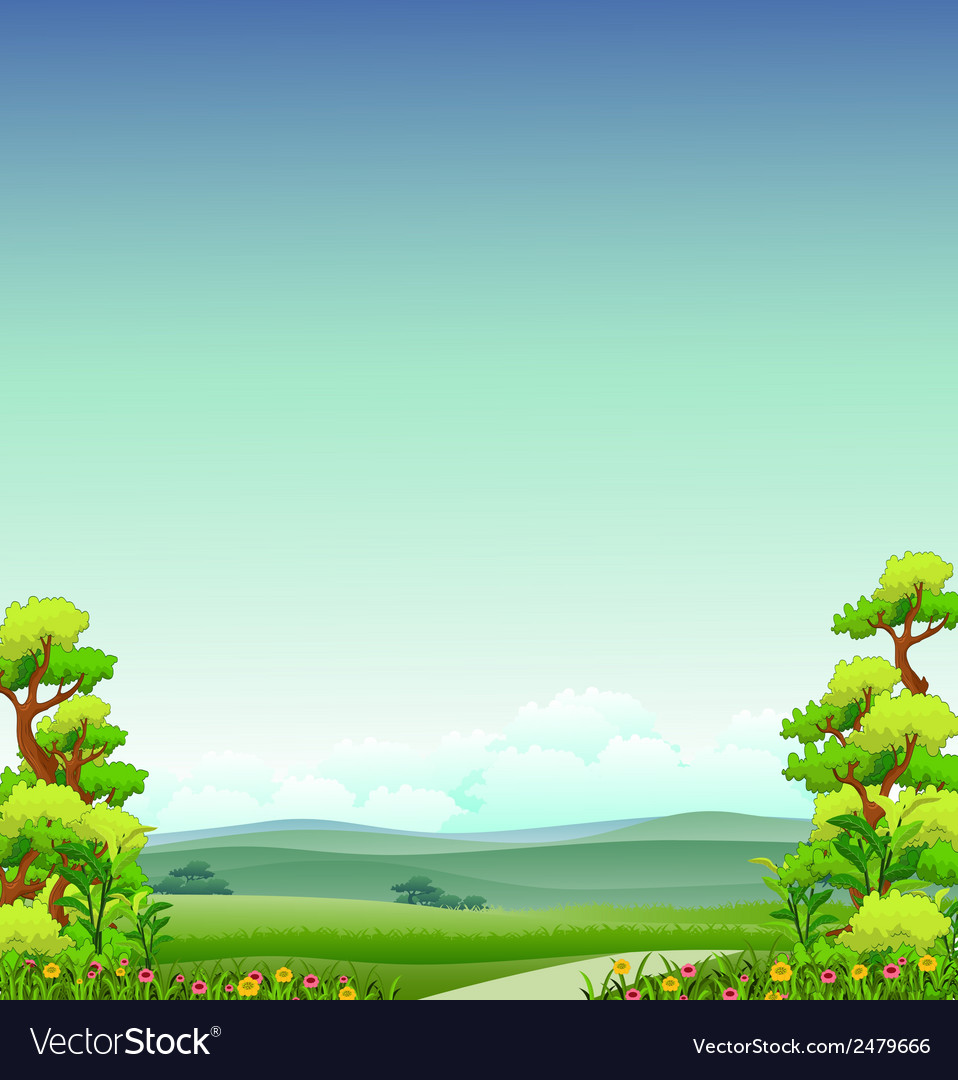 Beauty nature background vector | Price: 1 Credit (USD $1)