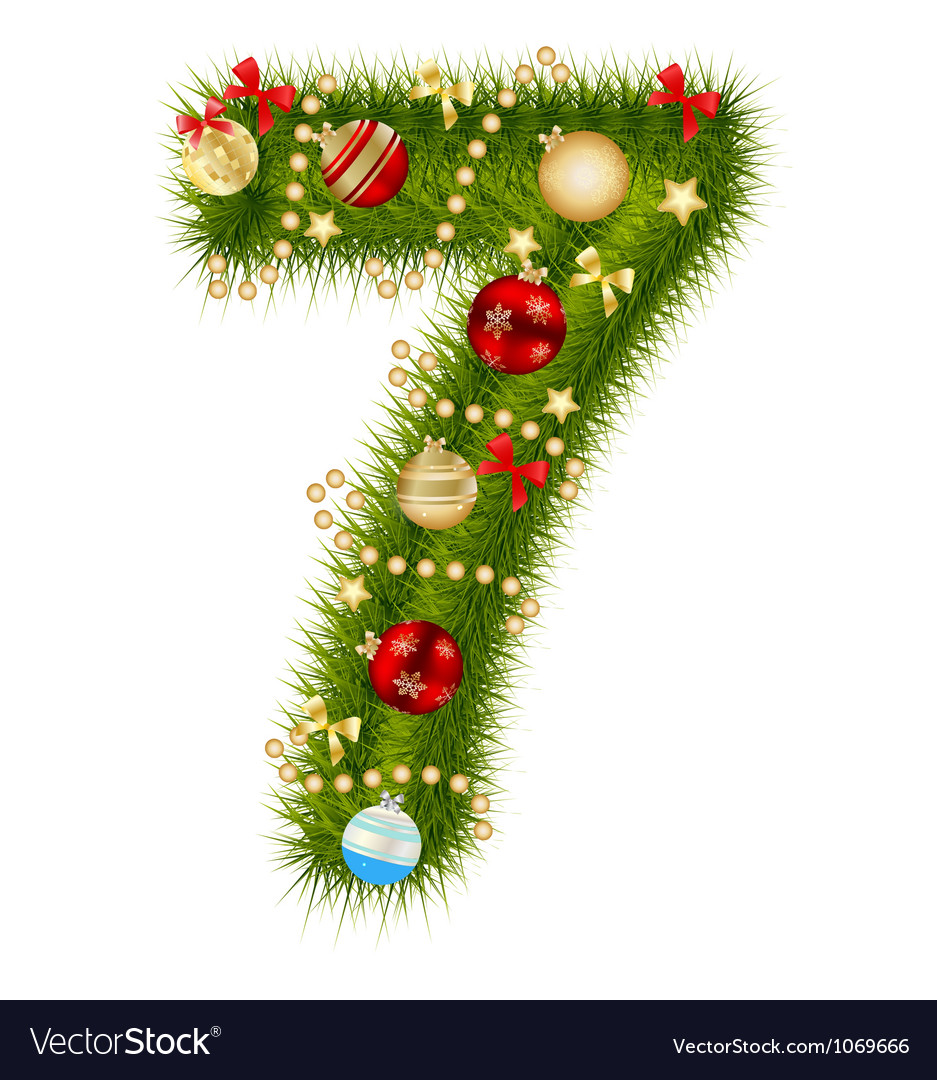 Christmas alphabet number vector | Price: 1 Credit (USD $1)