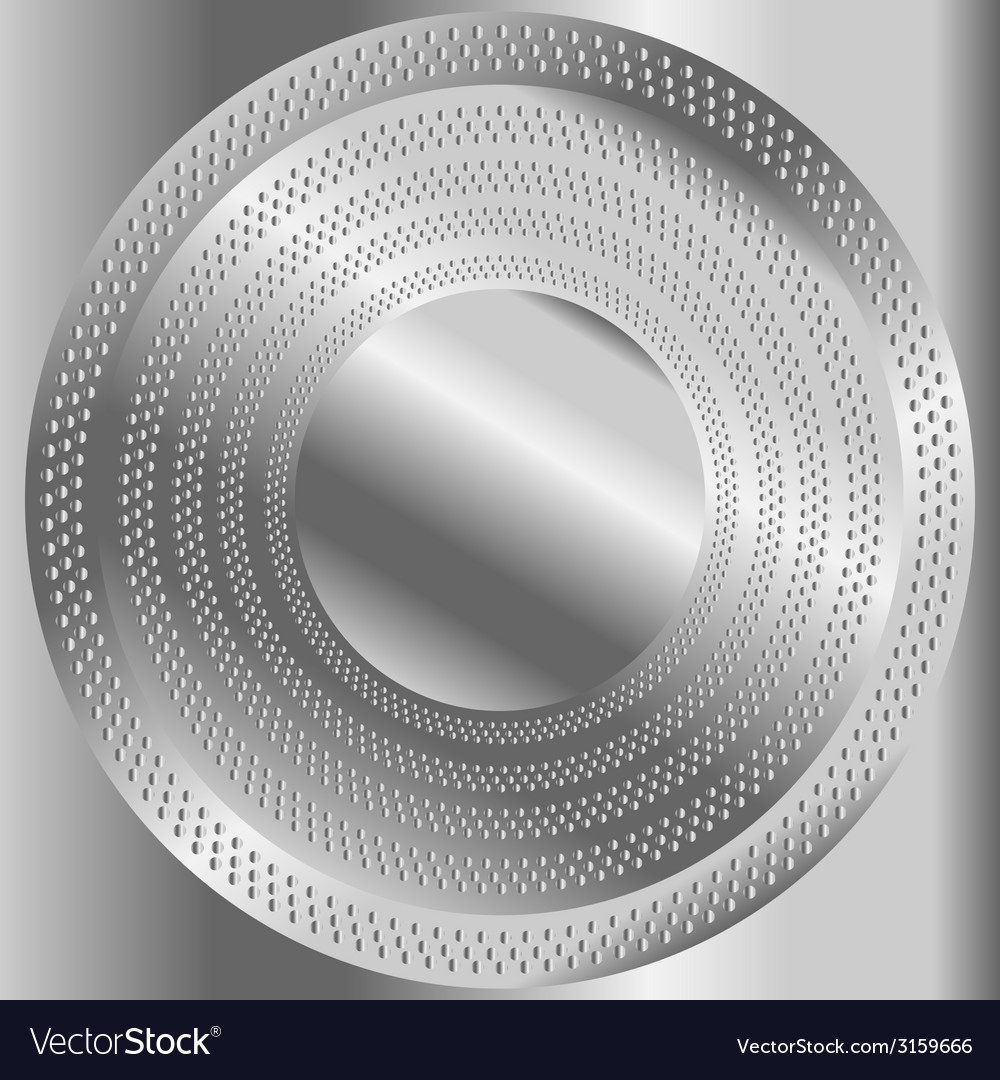 Circular brushed metal texture with dots vector | Price: 1 Credit (USD $1)