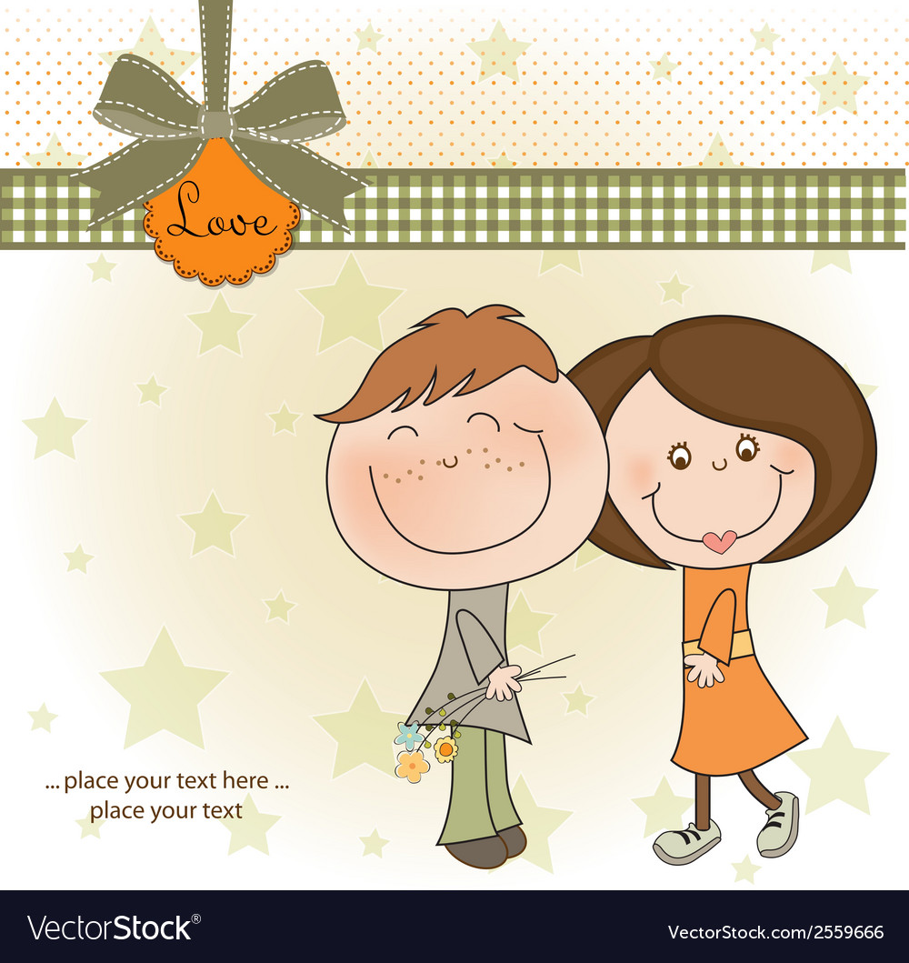 Happy lovers couple vector | Price: 1 Credit (USD $1)