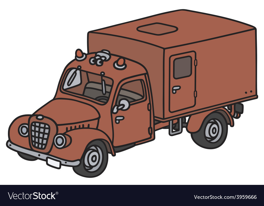 Old fire truck vector | Price: 1 Credit (USD $1)