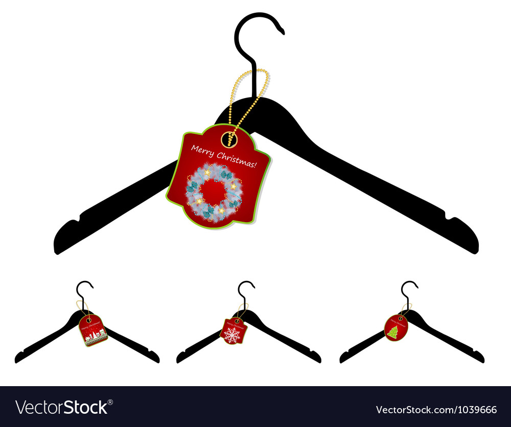 Set of hangers with christmas sale tag vector | Price: 1 Credit (USD $1)