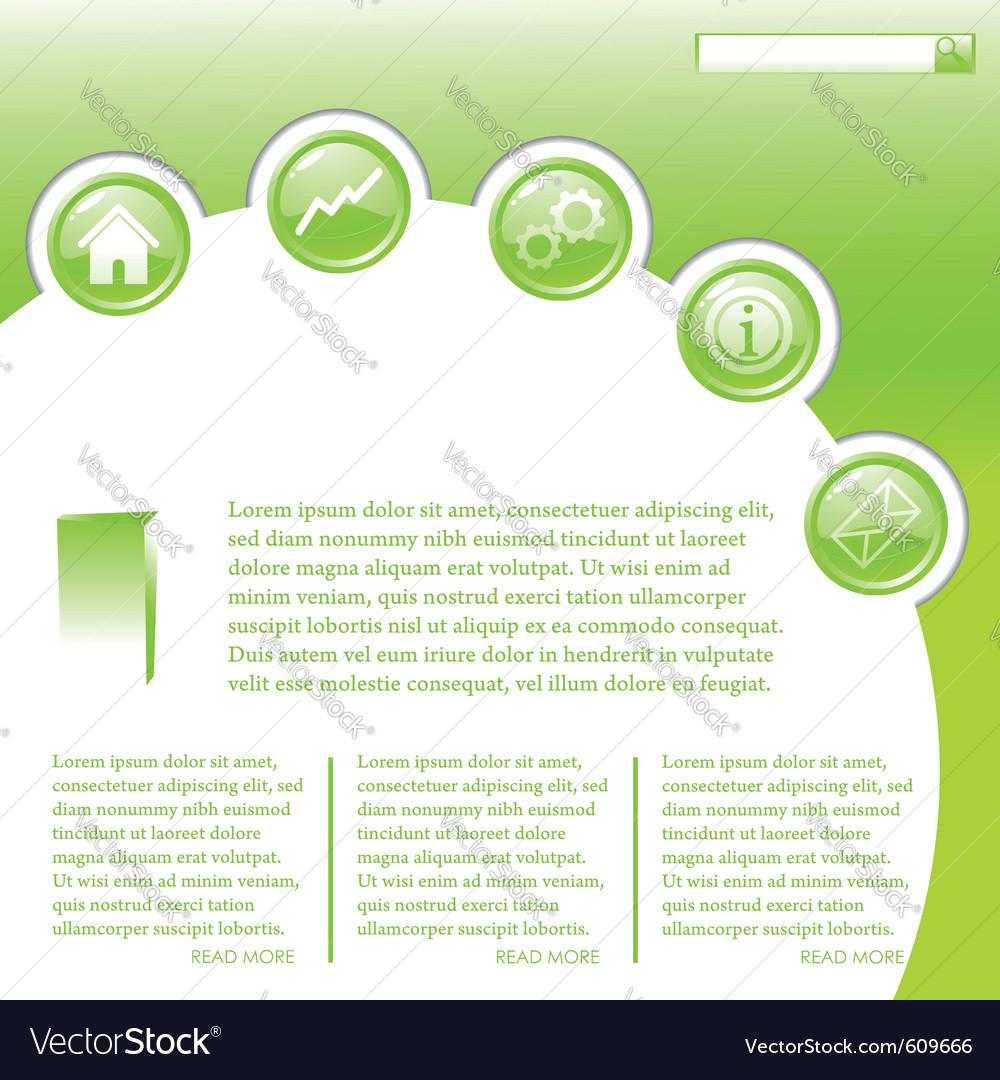 Website business template in green vector   Price: 1 Credit (USD $1)
