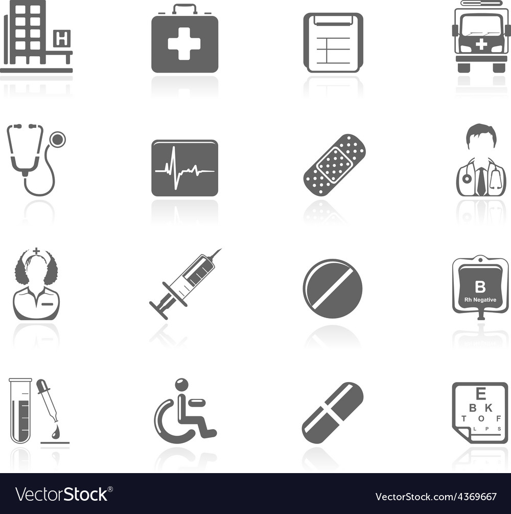 Black icons - medical vector | Price: 1 Credit (USD $1)