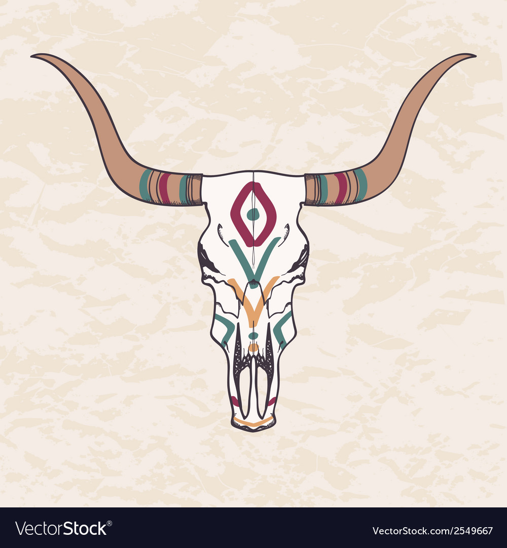 Bull skull vector | Price: 1 Credit (USD $1)