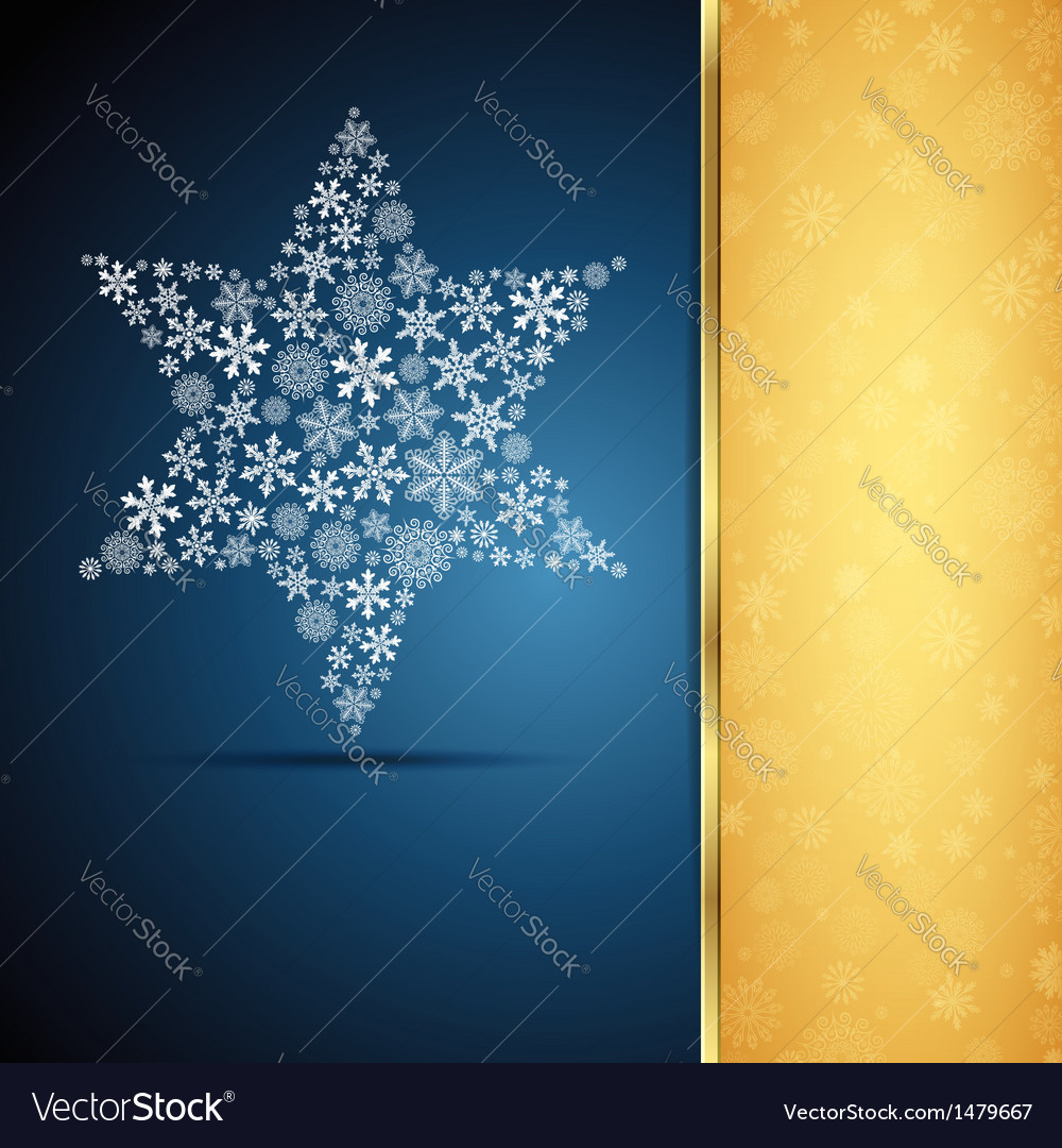 Christmas star snowflake design background vector | Price: 1 Credit (USD $1)