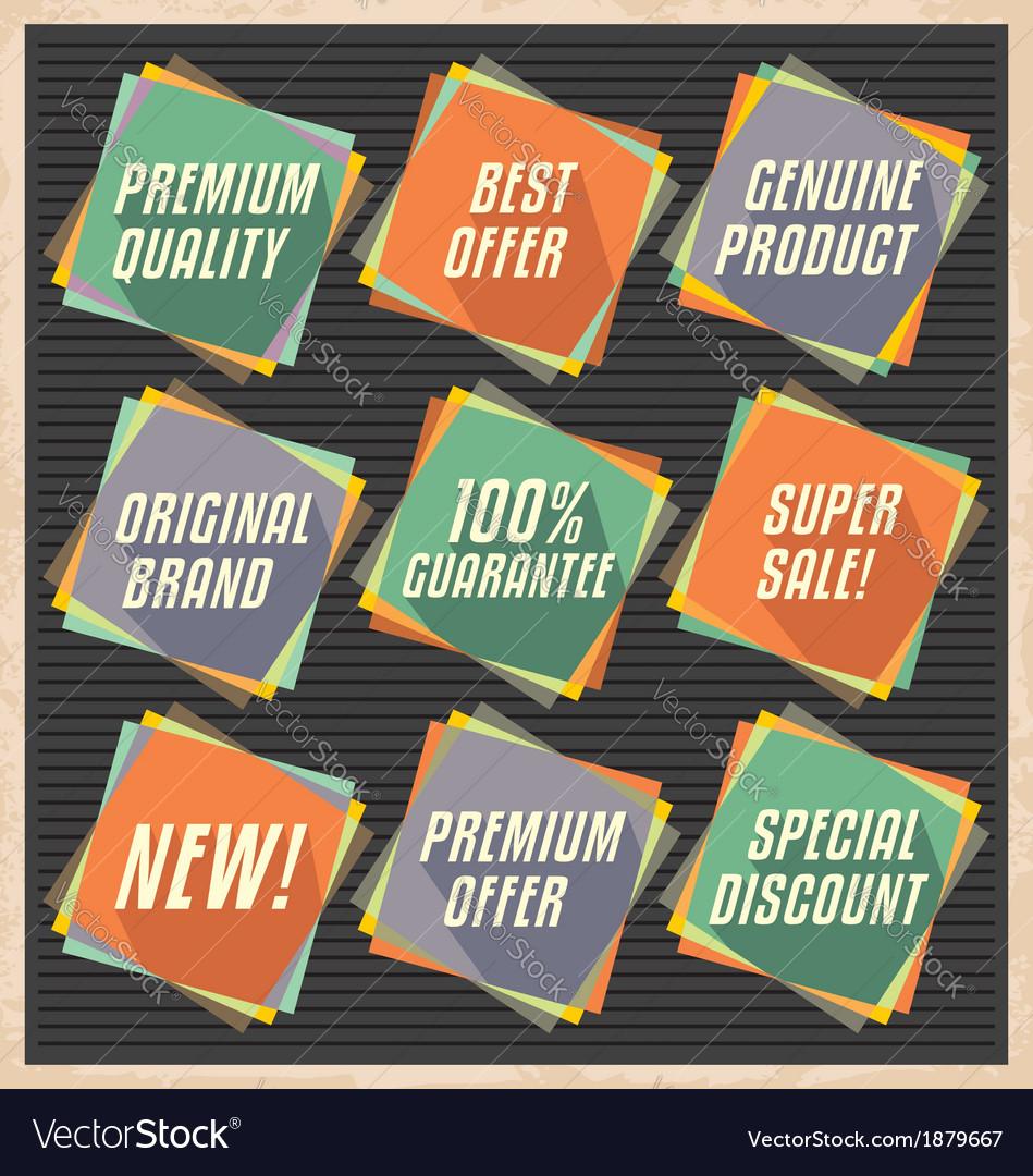 Set of retro design elements vector | Price: 1 Credit (USD $1)