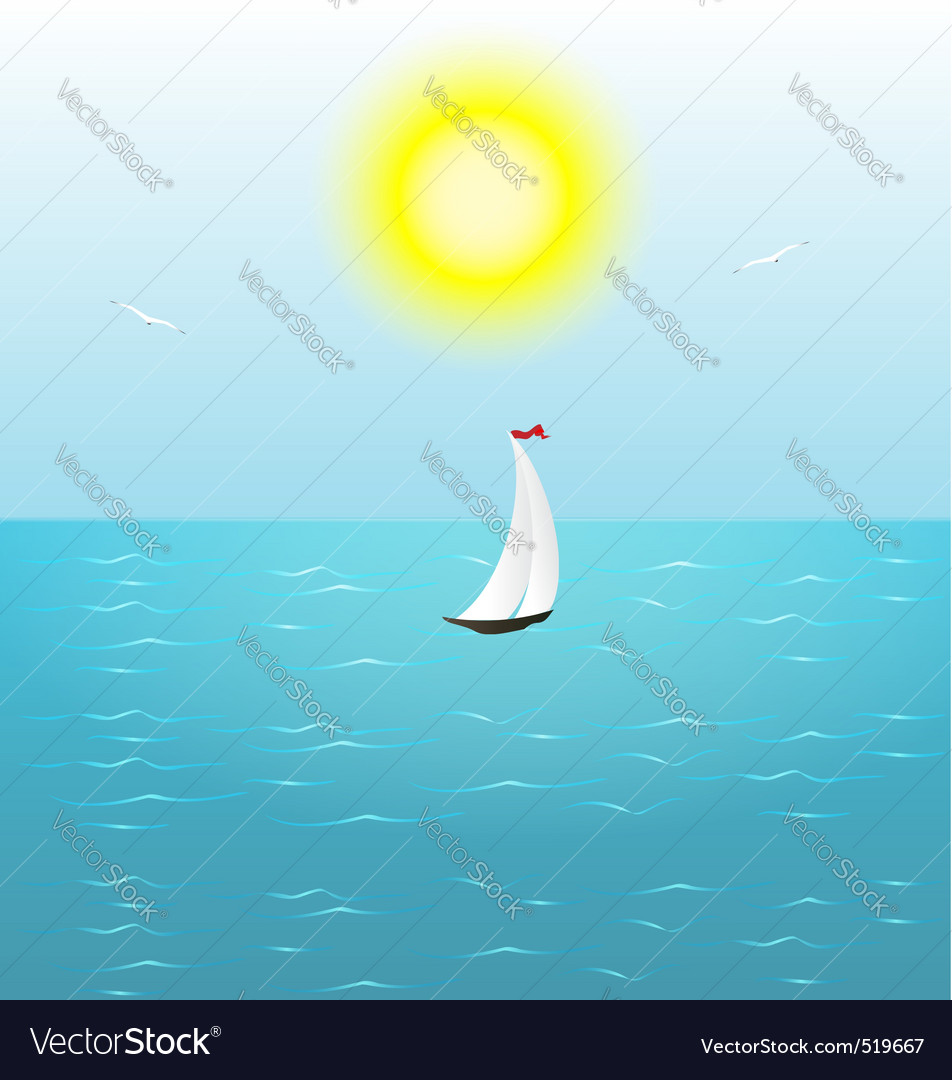 Summer sail vector | Price: 1 Credit (USD $1)