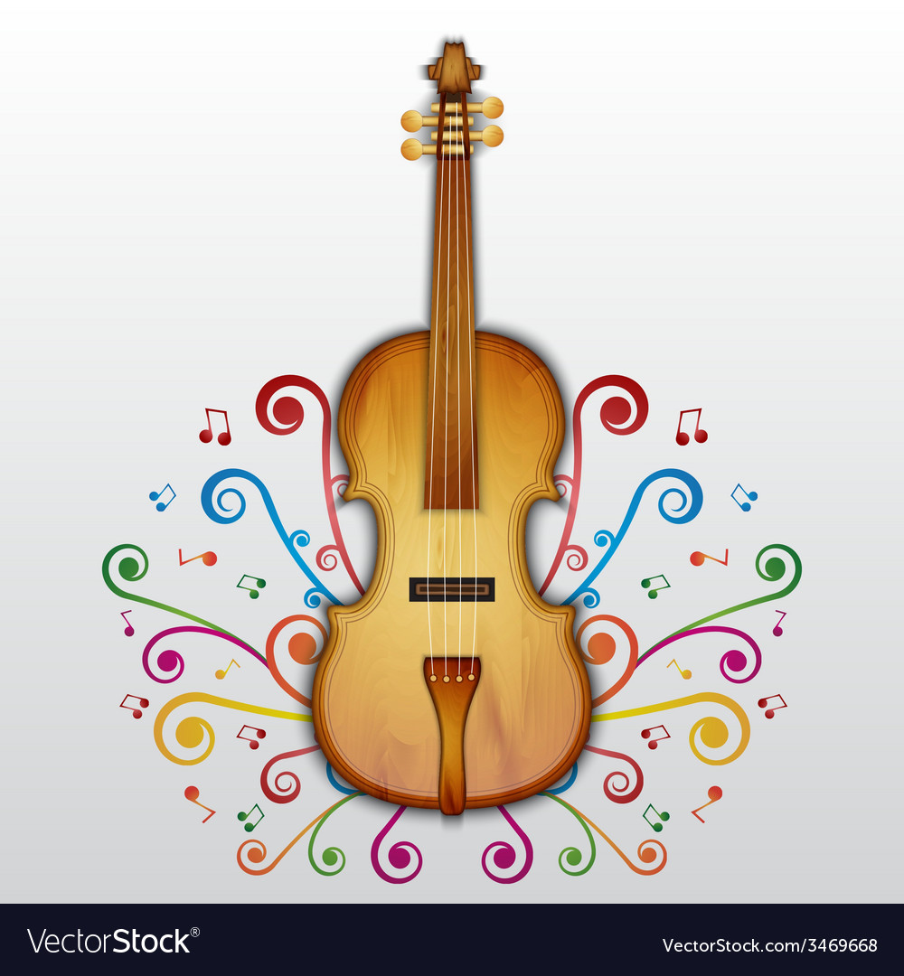 Background with violin vector | Price: 1 Credit (USD $1)