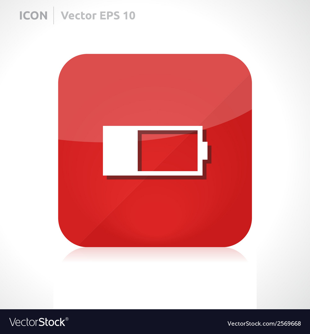 Battery icon vector | Price: 1 Credit (USD $1)