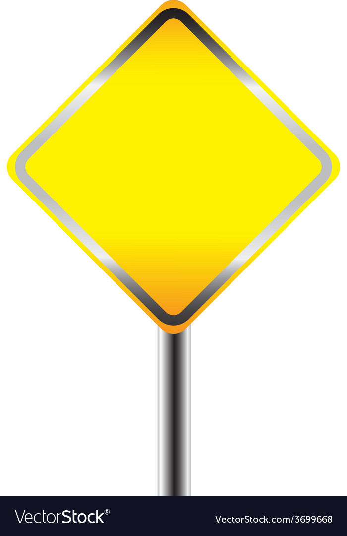 Blank warning road sign vector | Price: 1 Credit (USD $1)