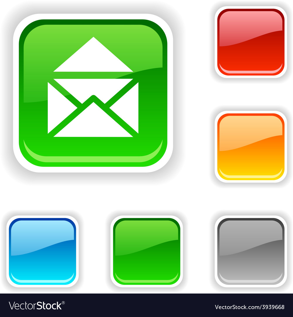 E-mail button vector | Price: 1 Credit (USD $1)