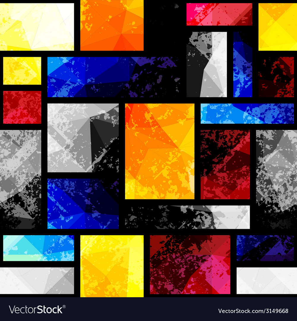 Geometric pattern in kubism style vector | Price: 1 Credit (USD $1)