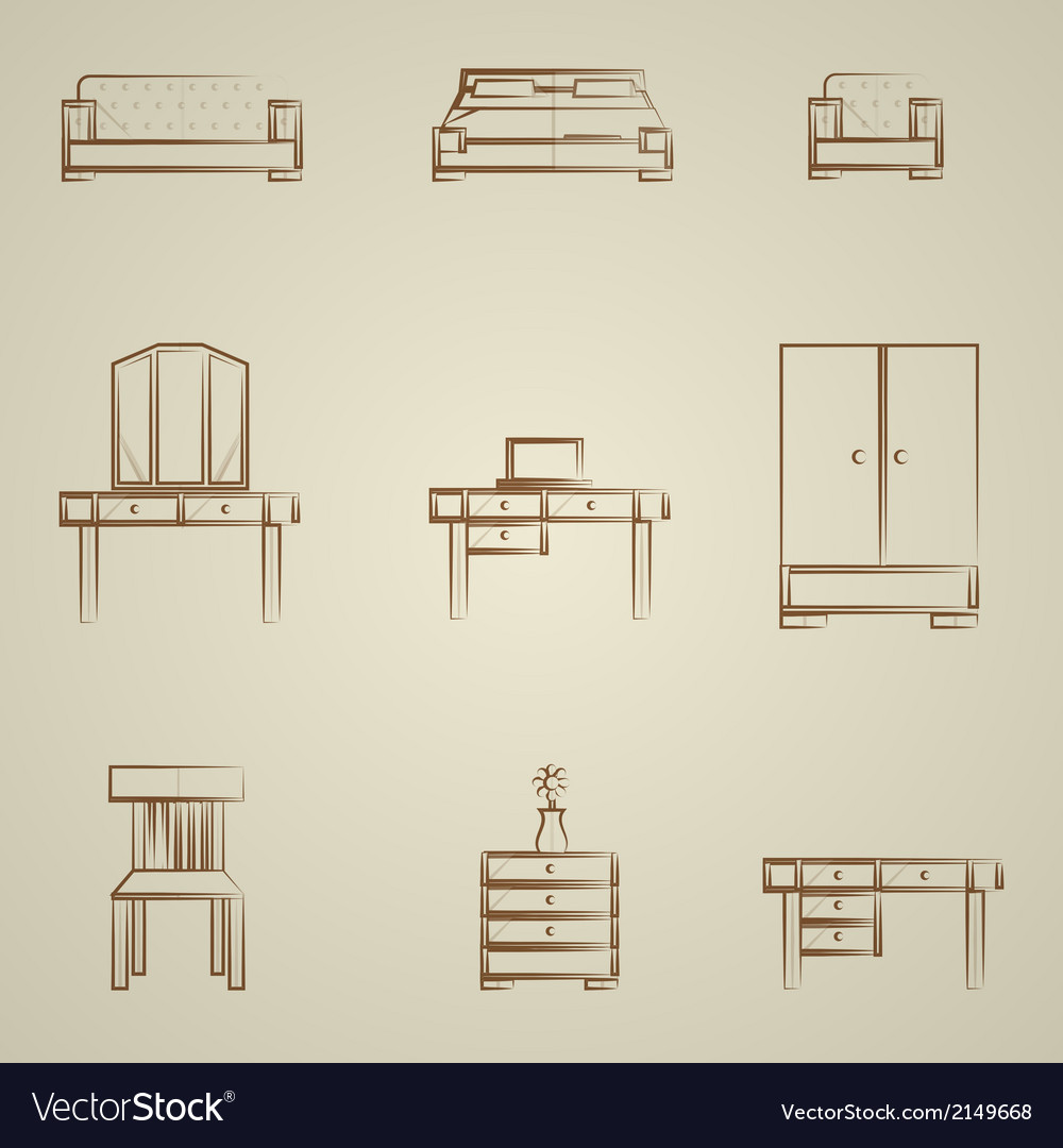 Icons for furniture vector | Price: 1 Credit (USD $1)