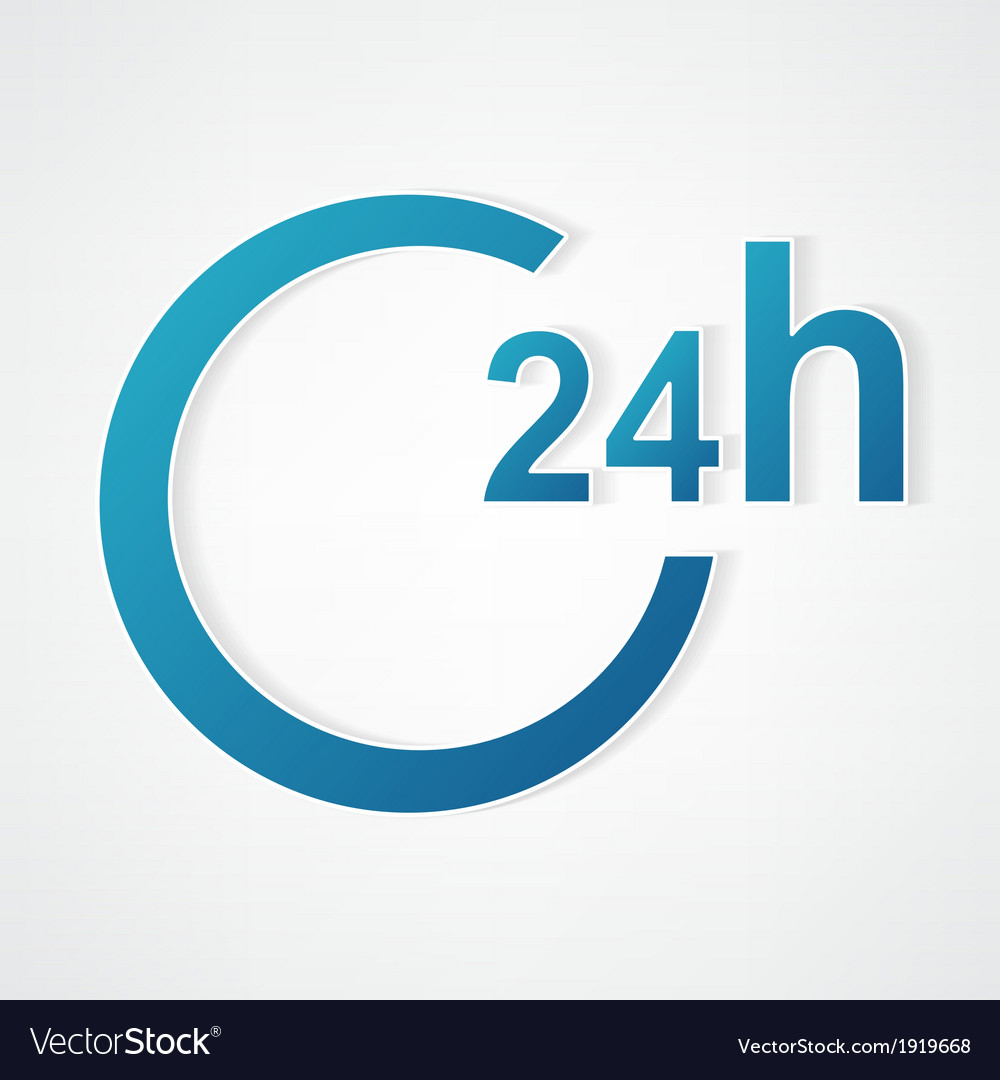 Modern 24 hour vector | Price: 1 Credit (USD $1)