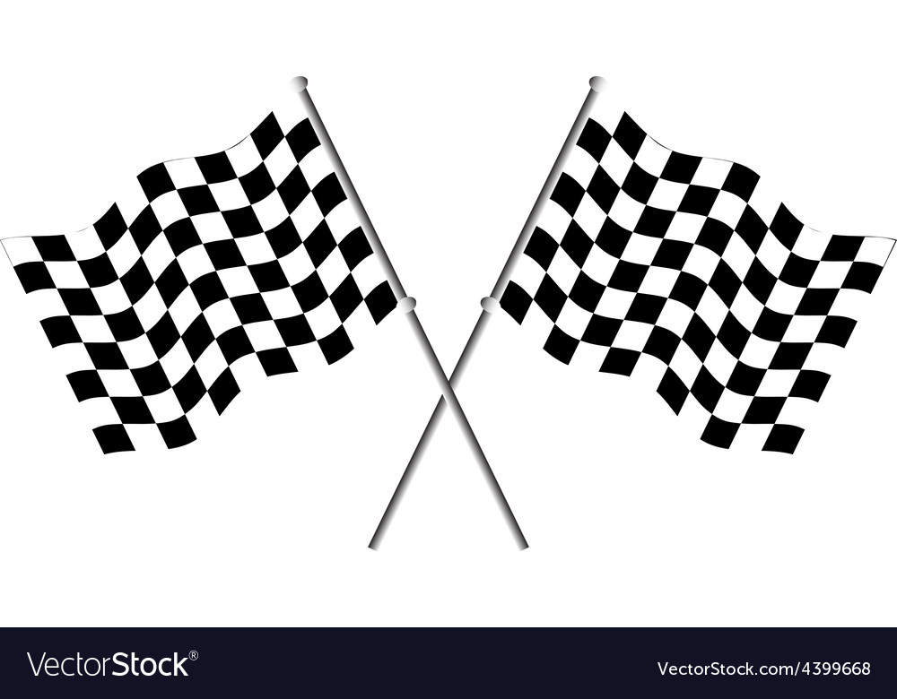 Race flags vector | Price: 1 Credit (USD $1)