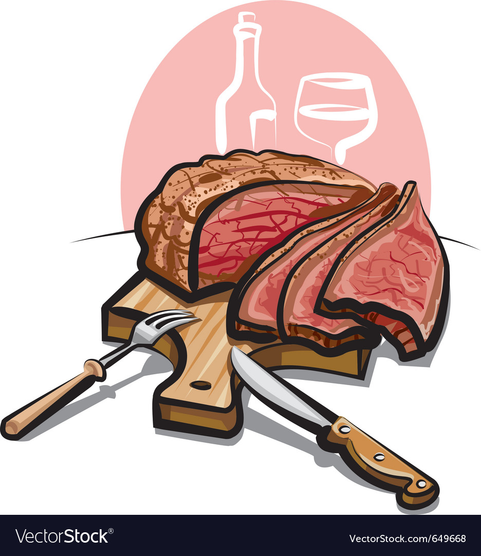 Roast beef vector | Price: 3 Credit (USD $3)