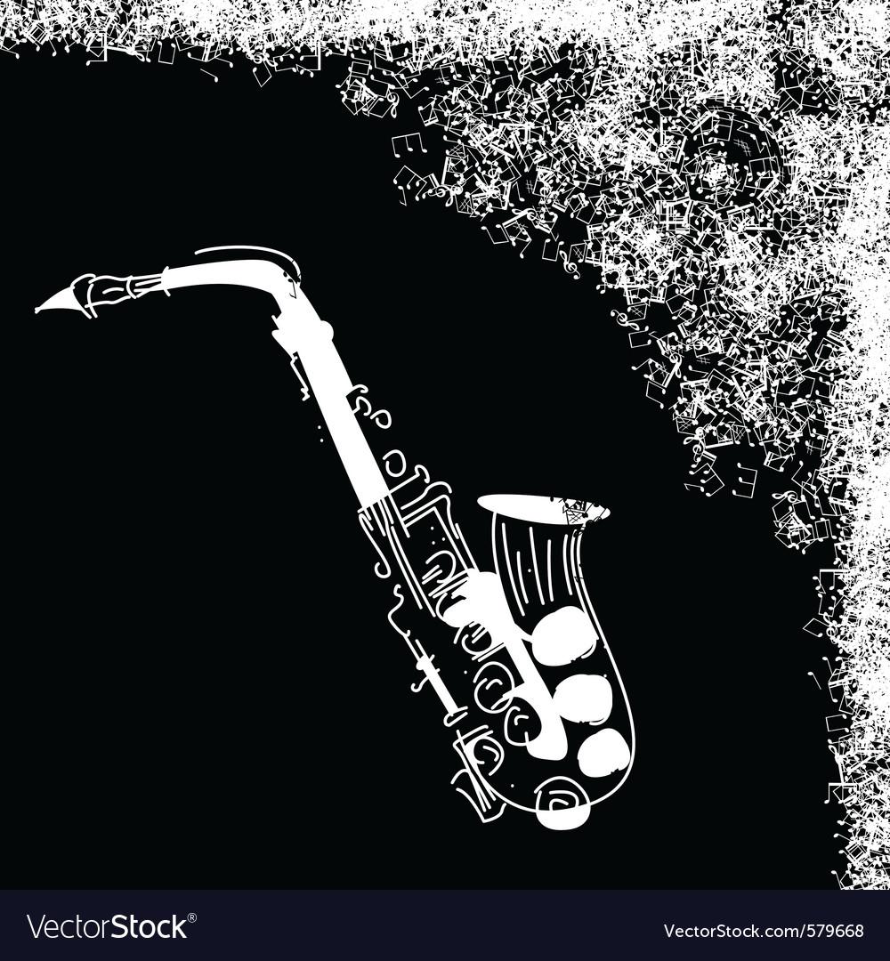 Saxophone jazz vector   Price: 1 Credit (USD $1)