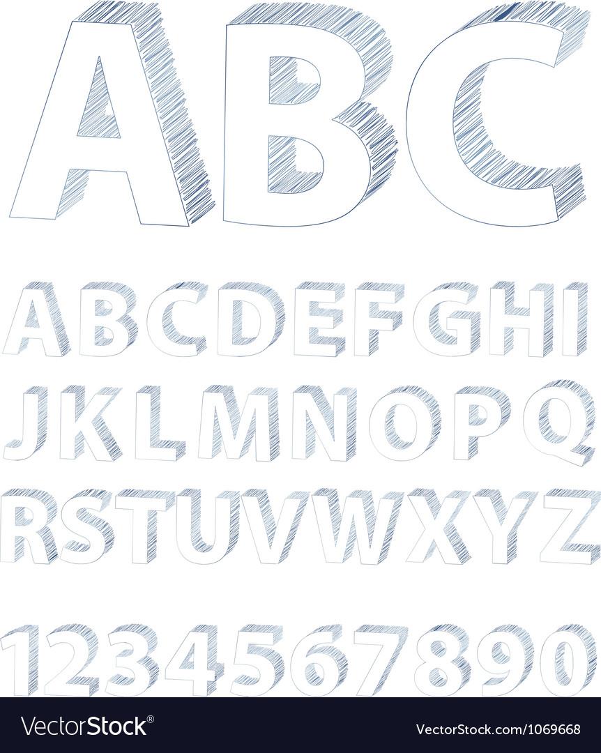 Scribble alphabet vector   Price: 1 Credit (USD $1)