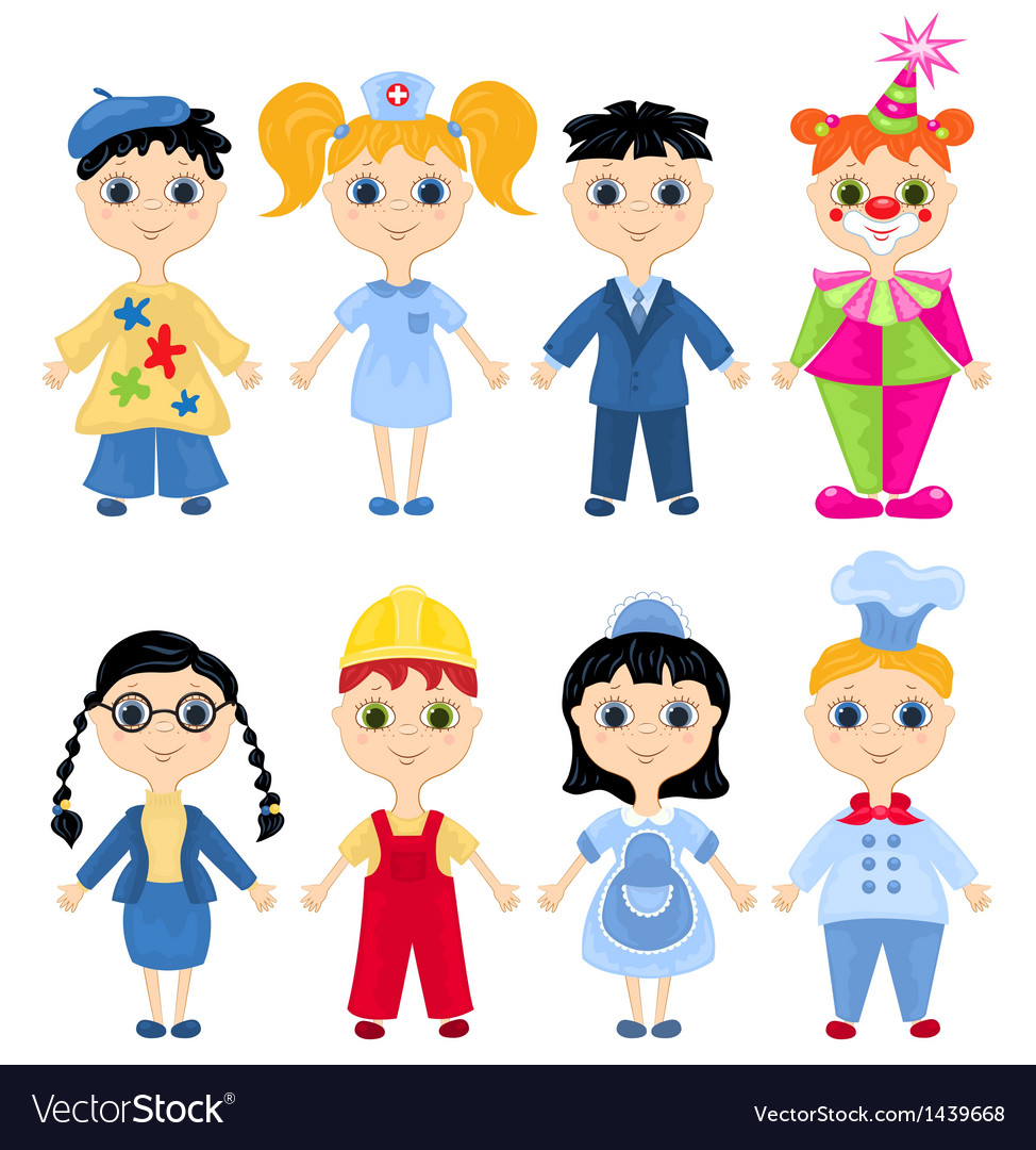 Set of profession cartoon characters vector | Price: 3 Credit (USD $3)