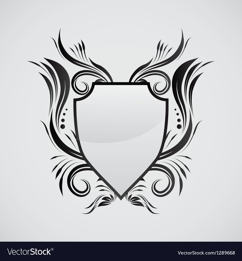 Shield ornamental vector | Price: 1 Credit (USD $1)