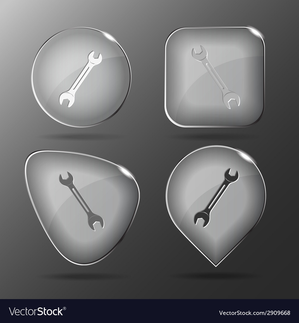 Spanner glass buttons vector | Price: 1 Credit (USD $1)