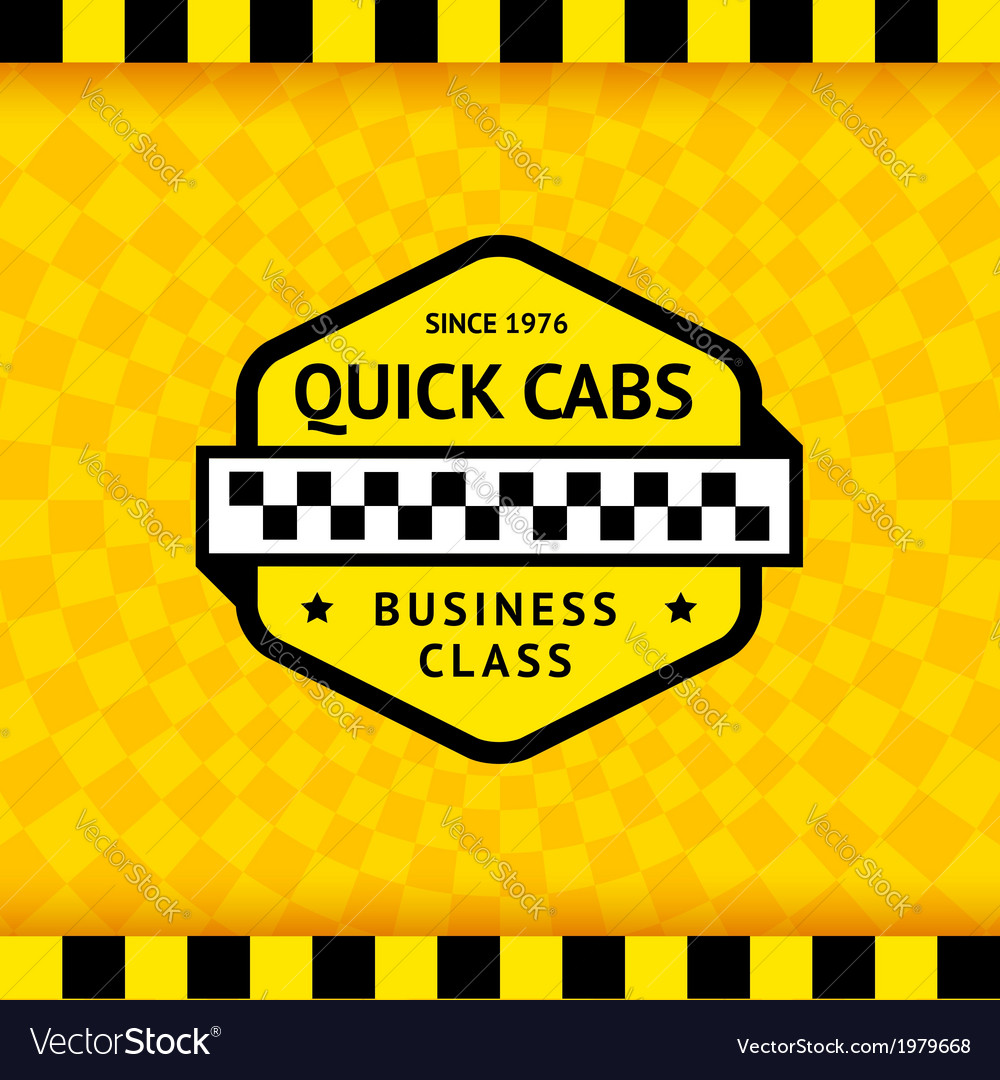 Taxi symbol with checkered background - 11 vector | Price: 1 Credit (USD $1)