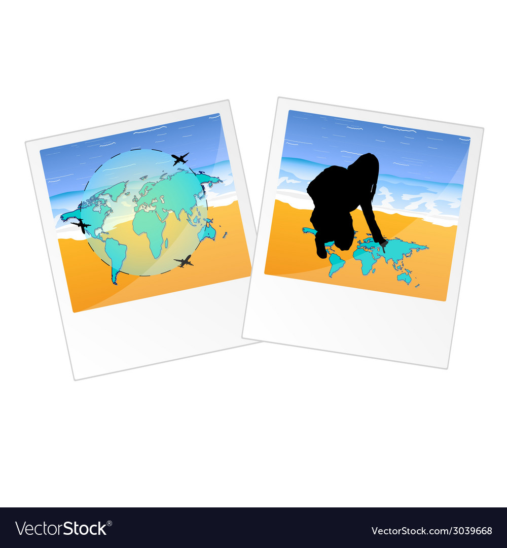 Travel two picture vector | Price: 1 Credit (USD $1)