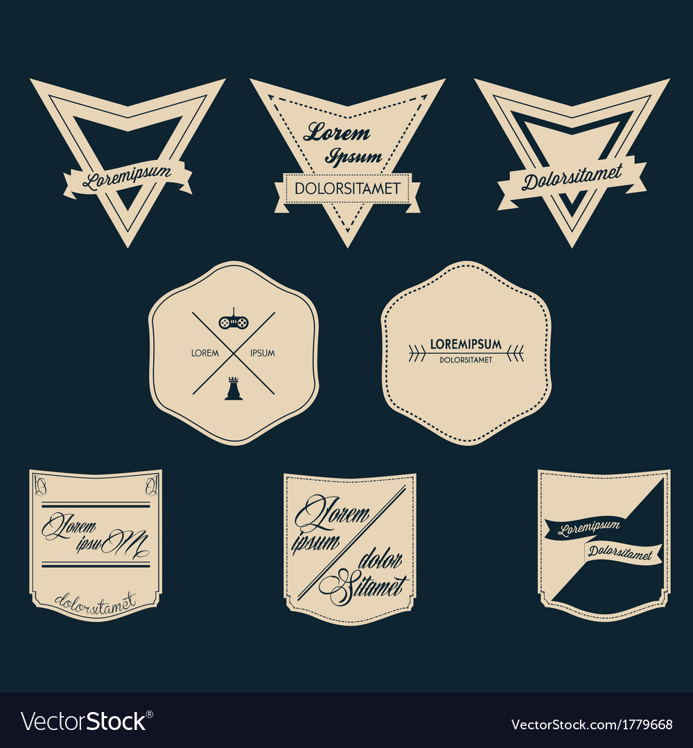 Vintage logo set vector | Price: 1 Credit (USD $1)