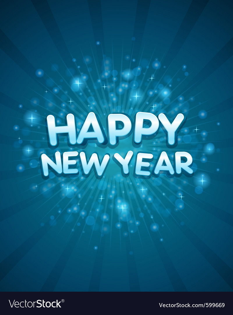 3d happy new year message vector | Price: 1 Credit (USD $1)