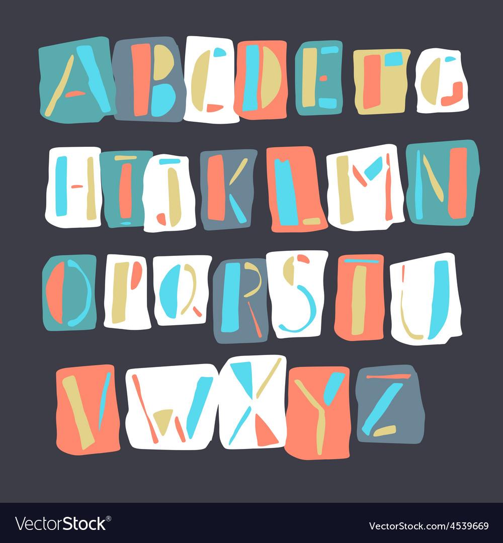 Cartoon alphabet retro vector | Price: 1 Credit (USD $1)