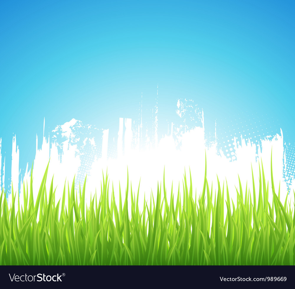 Green spring background vector | Price: 1 Credit (USD $1)