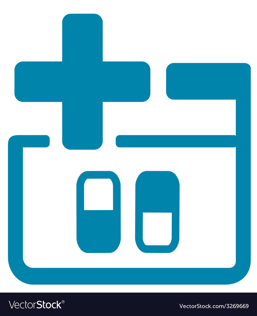 Medical icon with pills vector | Price: 1 Credit (USD $1)