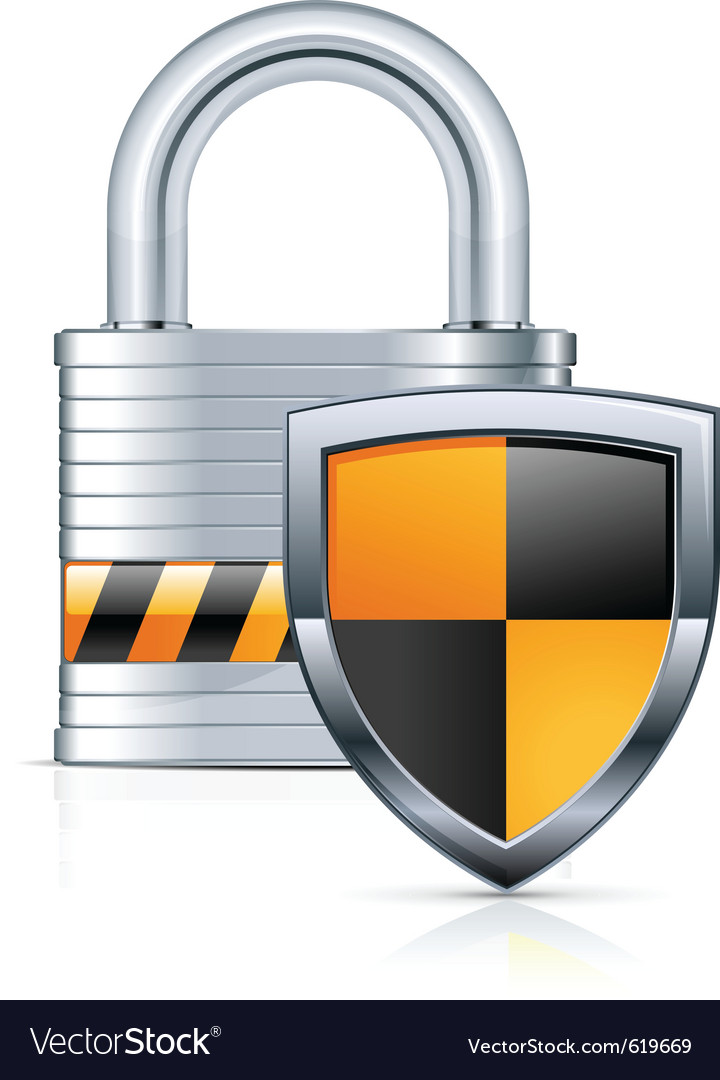 Metal padlock vector | Price: 1 Credit (USD $1)