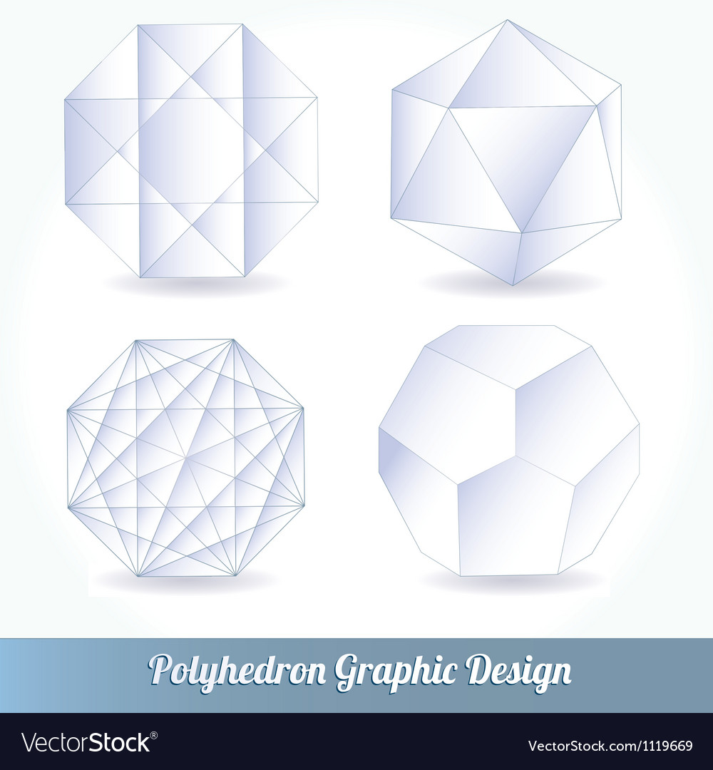 Polyhedron for graphic design vector | Price: 1 Credit (USD $1)