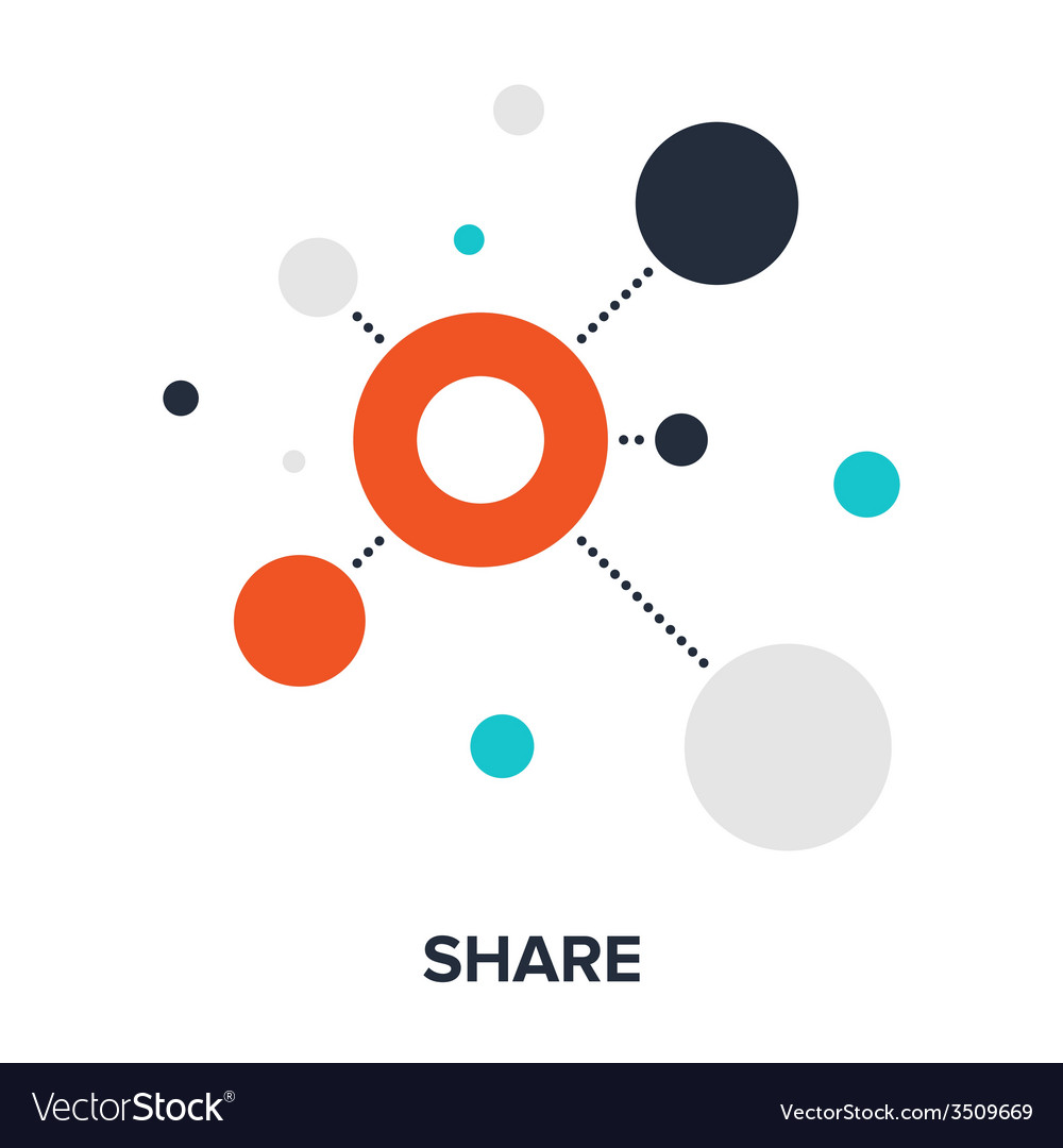 Share icon vector | Price: 1 Credit (USD $1)