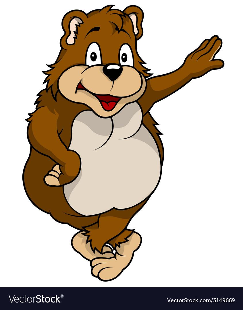 Standing bear vector | Price: 1 Credit (USD $1)