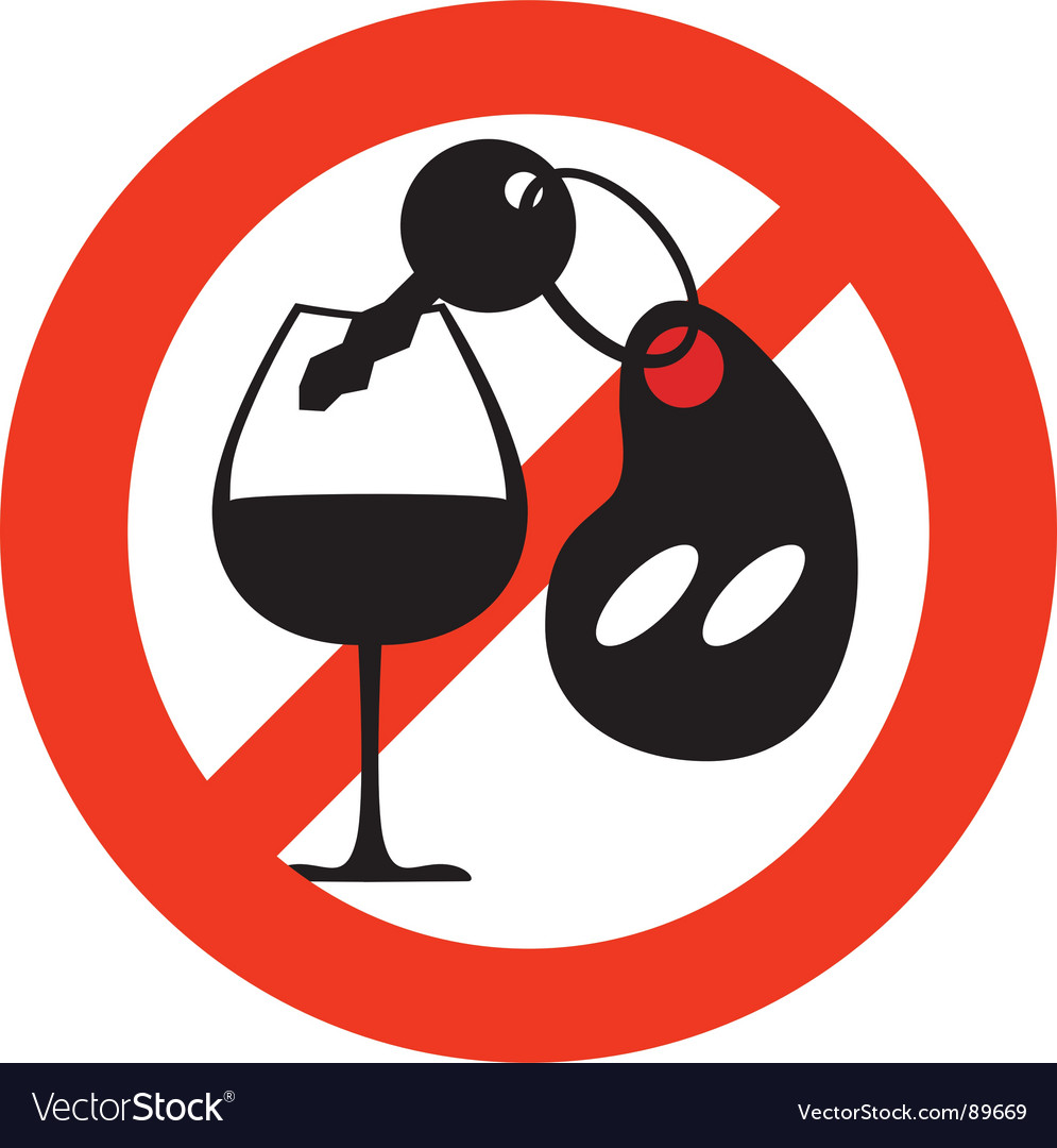 Stop alcohol sign vector | Price: 1 Credit (USD $1)